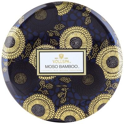 voluspa candle Moso Bamboo 3 wicks