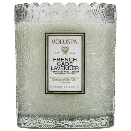 bougie à uccle voluspa scalloped french cade lavender