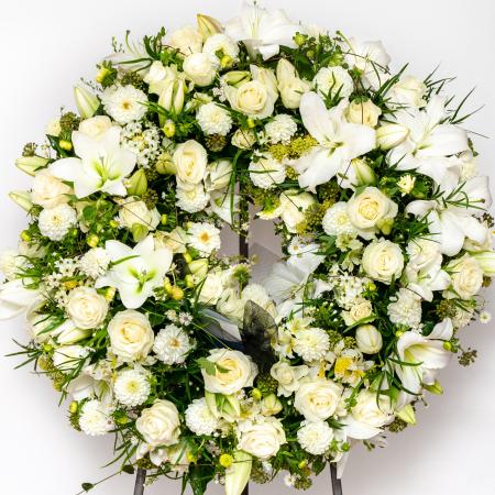 couronne blanche funérailles