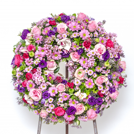 couronne funérailles pastel uccle