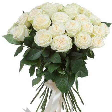 bouquet de roses blanches livraison à bruxelles fleuriste Botanica Uccle