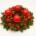 couronne noël rouge livraison