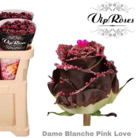 roses en chocolat , enfin presque!