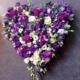 coeur de deuil mauve livraison fleurs ixelles saint-gilles fleuriste